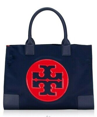 New TORY BURCH Ella Nylon Tote Large Colorblock 36757 USPS Priority Mail