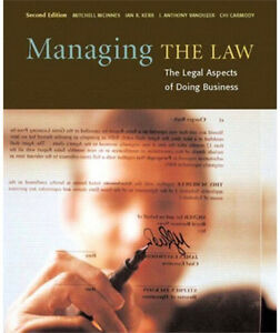 Managing the Law-The Legal Aspects of doing business