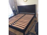 Stunning John Lewis super king size solid wood bed frame in like new condition, RRP£899.