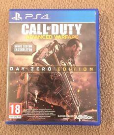 PS4 CALL OF DUTY , advanced warfare. DAY ZERO EDITION