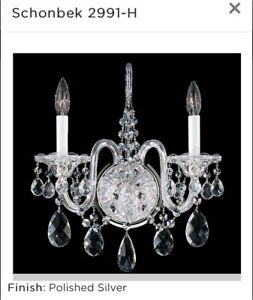 Schonbek 2991  Wall Sconce with Crystals