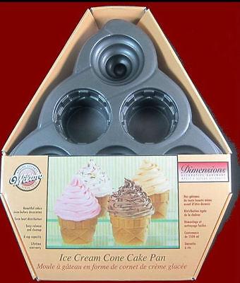 NEW! Wilton Dimensions **ICE CREAM CONE** Mini Cake Pan #5010 Wilton Ice Cream Cone Pan
