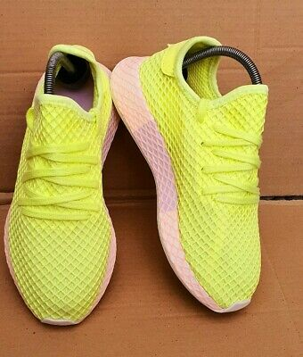 ADIDAS DEERUPT TRAINERS SIZE 6.5 UK LIME & PINK EXCELLENT CONDITION WORN ONCE