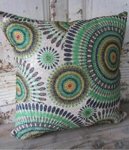 Aztec Kingfisher Green Brown Yellow Black Home Decor Cushion Cover 40M