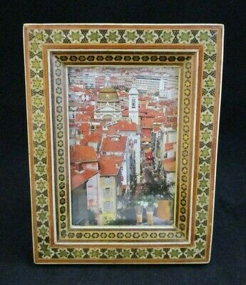 Traditional Fine Art Miniature Inlaid Micromosaic Khatam Picture Frame 1