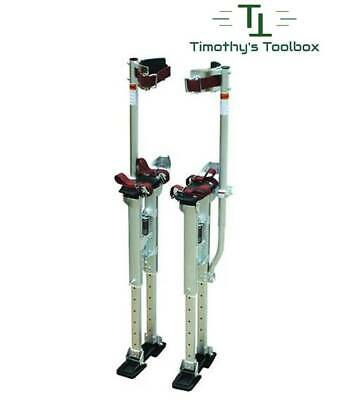 Contractor Plus Professional Dual Spring Aluminum Drywall Stilts 18-30- New