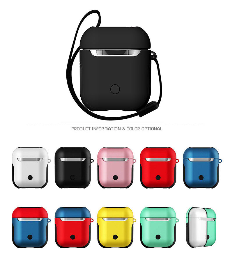 AirPods Hard Case Cover Protective Skin w/ Strap For Apple A