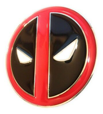 Deadpool Belt Cosplay (Comic Collectible Deadpool Belt Buckle Full metal HQ NEW cosplay or just wear)