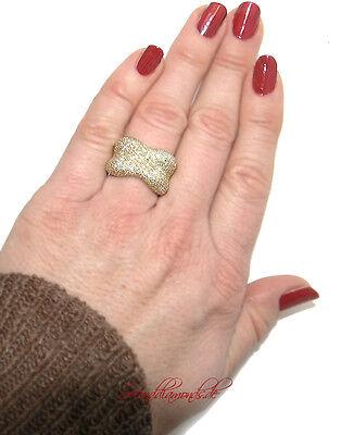 Breiter, effektvoller Diamantring 750 GOLD / 18 kt / ca. 250  Diamanten