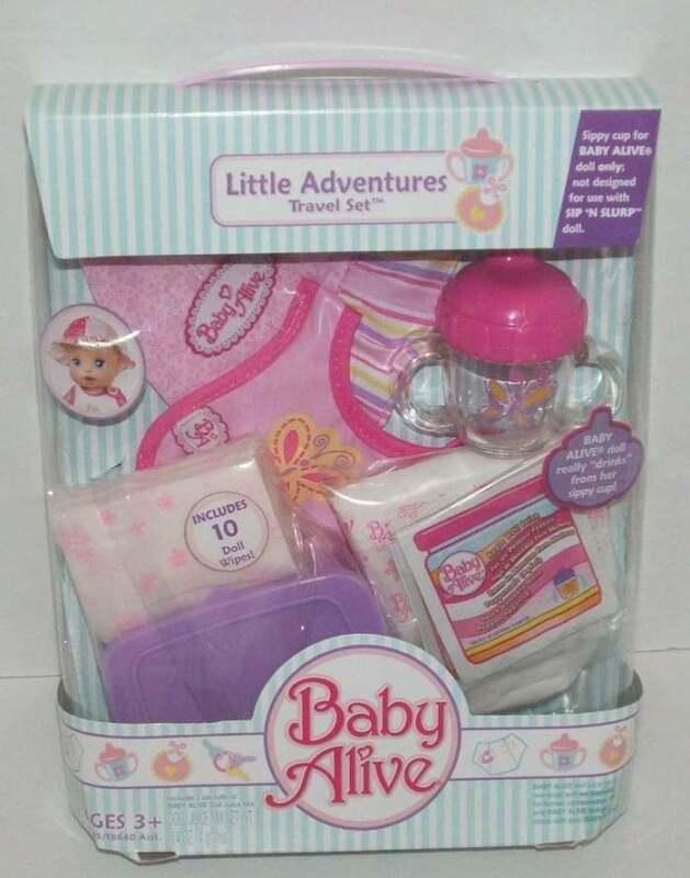 NEW 2006 Baby Alive Little Adventures Travel Set