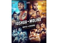 Matchroom boxing 10/12/16 *Anthony Joshua *3x Lower tier seats * tickets on hand now !!