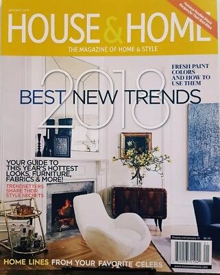 House & Home January 2018 Best New Trends Fresh Paint Colors FREE SHIPPING CB (Best Interior House Paint)