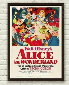 Vintage-Disneys-Alice-in-Wonderland-Movie-Film-Poster-Print-Picture-A3-A4
