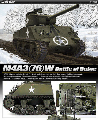 Academy 1/35 Scale  Plastic Model Kit M4A3(76)W Battle of Bulge 13500 2016 new