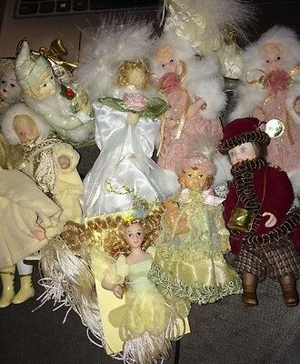 Lot of Vintage KSA Collectibles Victorian Porcelain Doll Ornaments & more