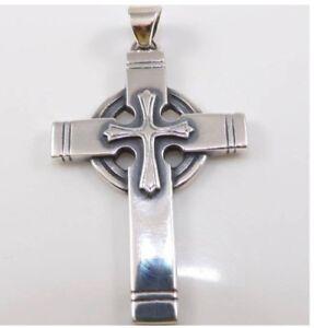 James Avery Sterling Silver Celtic Cross Religious Rare Retired Pendant LDE2