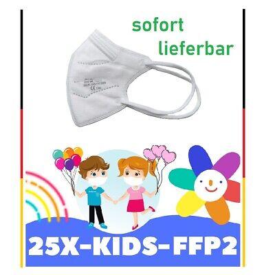 25x Stück - FFP2 Kinder Masken Atemschutz zertifiziert + 3x FFP2 für Erwachsene