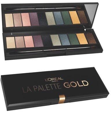 Eye Color Palette (L'oreal Loreal Color Riche La Palette Gold - 10 OMBRES/ EYESHADOWS & OVP)