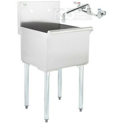 18 X 21 X 14 With Faucet Stainless Steel Commercial Utility Sink Prep Laundry