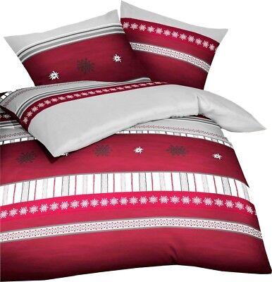 63d6c27add Kaeppel Biber Bettwäsche Edelweiss Kristalle Karmin Rot Grau Weiß Öko Tex