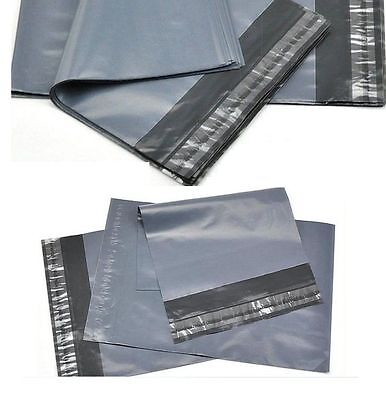 100 BAGS OF 12x16 INCH STRONG POLY MAILING POSTAGE POSTAL QUALITY SELF SEAL GREY