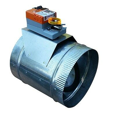 "HVAC Zone Damper (Round 10"") Professional Grade/ Heavy Duty - USA Made, 24VAC"