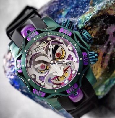 Invicta Reserve Venom DC Comics Joker Chronograph 52mm Swiss Mvt Watch New