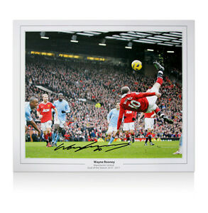Wayne Rooney hand signed on 19.9.12 Overhead Kick print Fantastic New price £69