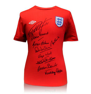 England Shirt hand signed by 9 of 1966 World Cup Team