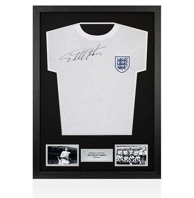 b29ffea78 Framed Sir Geoff Hurst Signed England 1966 Shirt - Home Autograph Jersey