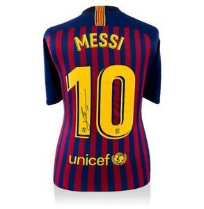 785e9ec03 Lionel Messi Official Back Signed Barcelona 2018-19 Home Shirt Autograph