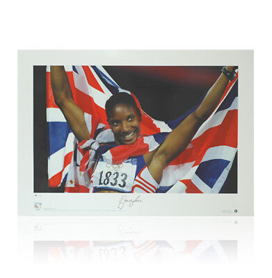 Denise Lewis signed print - Olympic Gold Autograph