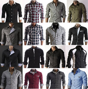 Collection-of-New-Designer-Eye-Catching-Mens-Slim-Fit-Dress-Casual-Shirts