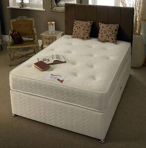 4ft By 6ft Short White Damask Memory Foam Bed Divan Mattress Memory Bed Ebay