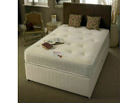FURNITURE SALE-DOUBLE AND KING SIZE DIVAN BED BASE W OPT MATTRESS & HEADBOARD-