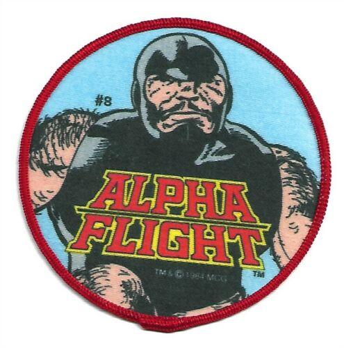 VINTAGE ALPHA FLIGHT PUCK 1984 MARVEL COMICS PATCH NEW & UNUSED