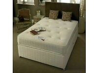 Sale On Furniture-Brand New (4ft6inch) Double & (5ft) King Size Divan Bed Base With Opt Mattress-
