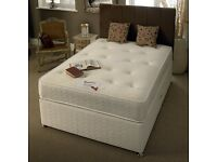 NEW 5FT KINGSIZE DIVAN BED WITH SUPER ORTHOPEDIC MATTRESS IN DIFFERENT COLORS