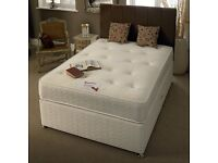 FREE & QUICK DELIVERY // DOUBLE DIVAN BED BASE WITH DIFFERENT QUALITY MATTRESS//