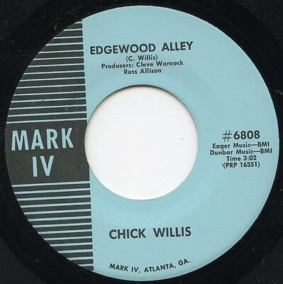 Rare Mint 45Rpm Blues R B  Chick Willis  Edgewood Alley   Lean And Lanky Mark Iv