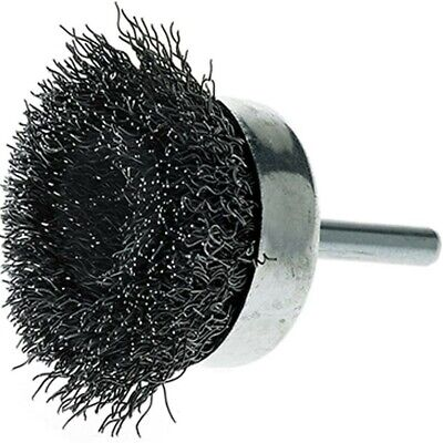 5 Pack - 3 Crimped Wire Cup Brush Carbon Steel 14 Shank For Die Grinderdrill