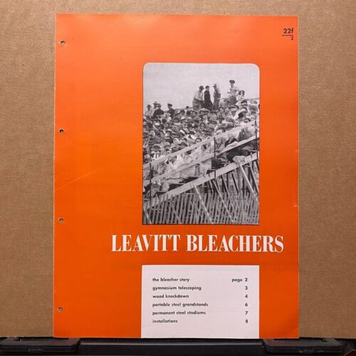 Vtg Leavitt Corporation, Urbana, ILL. Brochure ~ Bleachers - Catalog 1949