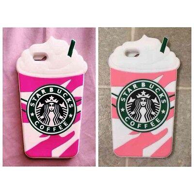 3D Design Silicone Starbucks Coffee / Cute Bear Case For iPhone 6/6s/7/8 (3d Design Silicon Case)