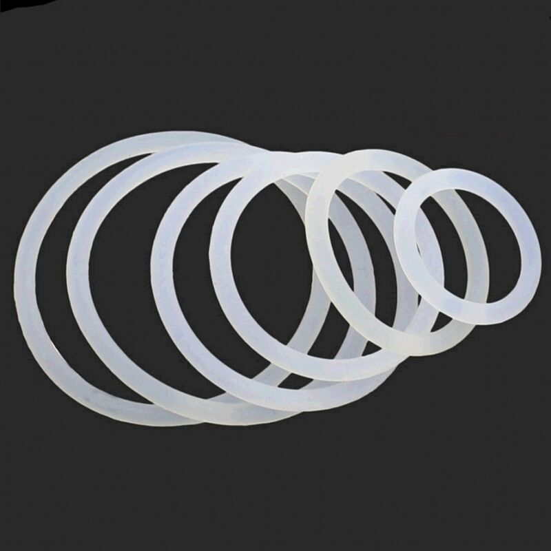 OD 3mm-60mm White Silicone O-Ring Gaskets Seals Rubber Gasket Clamp Free P&P