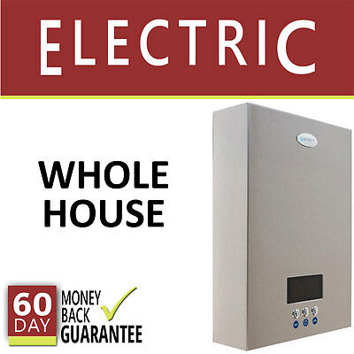 Electric Tankless Hot Water Heater 5 Gpm Marey On Demand 4 Bath Whole House