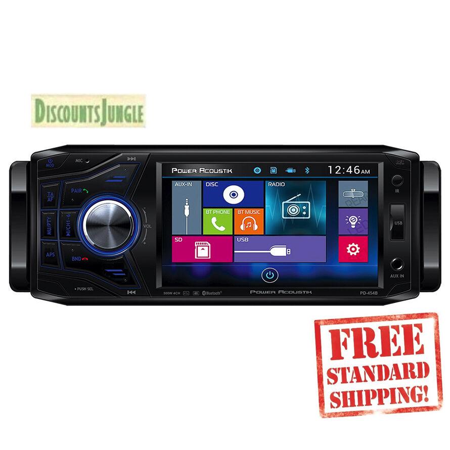 $104.99 - POWER ACOUSTIK PD-454B SINGLE 1 DIN CAR DVD/CD/MP3/USB 4.5