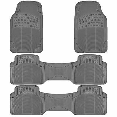 4PC ALL WEATHER GRAY RUBBER FLOOR MATS SET MT 90023GR for TOYOTA SIENNA