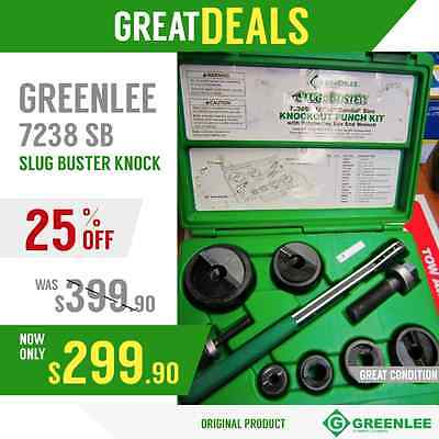 Greenlee 7238 Sb Slug Buster Knock Lks New Original Fast Shipping