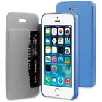 BeHello Book Case blauw iPhone 5 / 5S / SE