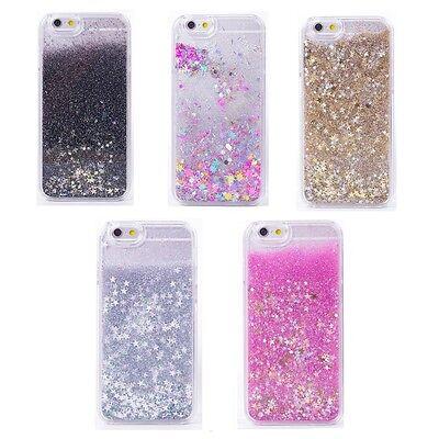 Stars Sparkle Design - Liquid Glitter Stars Bling Moving Latest Design Case Cover For iPhone & Samsung